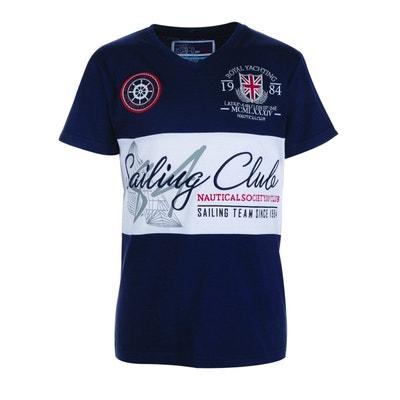 833cc91d73b1c T-shirt à manches courtes col V YATCHING SAILING CLUB T-shirt à manches