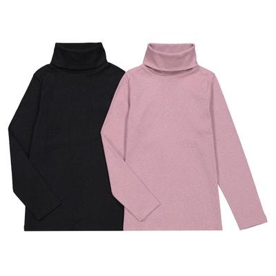 b083632eb59 Lote de 2 camisetas de cuello alto con manga larga