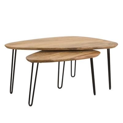 Table Basse Ovale Bois La Redoute