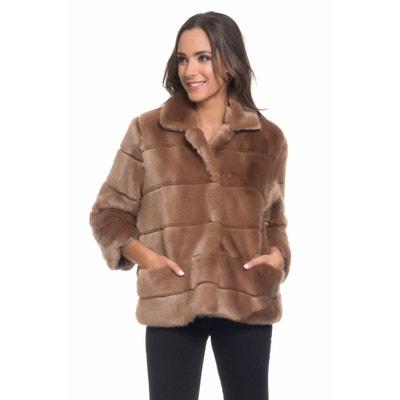 66faad00b1 Manteau femme hiver fausse fourrure | La Redoute