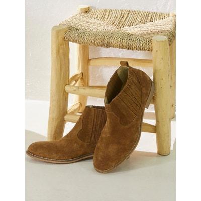 21574e1ca5b Low boots en cuir velours Low boots en cuir velours CYRILLUS