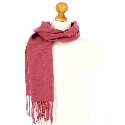Echarpe rose luxe unie en laine d Australie, 37x180cm TONY ET PAUL b0f1b54c128