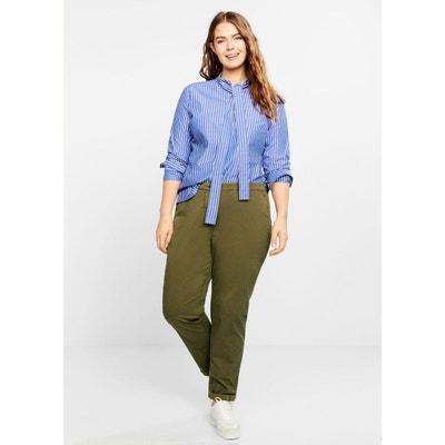 0c5cdd7928a1 Pantalon droit coton VIOLETA BY MANGO