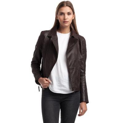 f40cbcdce Veste en cuir et simili femme | La Redoute