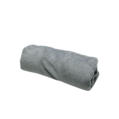 ce2973f49e70 Couverture bébé polaire à poils longs, grise, 75 x100 cm POUSSIN BLEU
