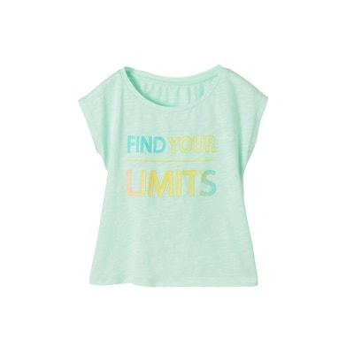 513988563fa97 T-shirt fille message fantaisie VERTBAUDET. «