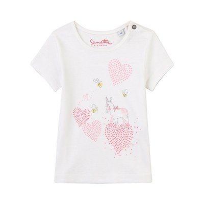 01a060aa1703f Sanetta T-shirt coeurs top bébé vêtements bébé SANETTA