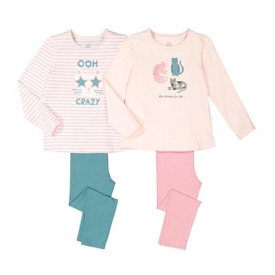 Set van 2 pyjama's in katoen 3-12 jaar Set van 2 pyjama's in katoen 3-12 jaar LA REDOUTE COLLECTIONS