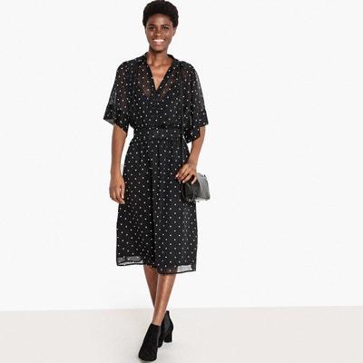 5af4655f803398 Lange jurk met stippen