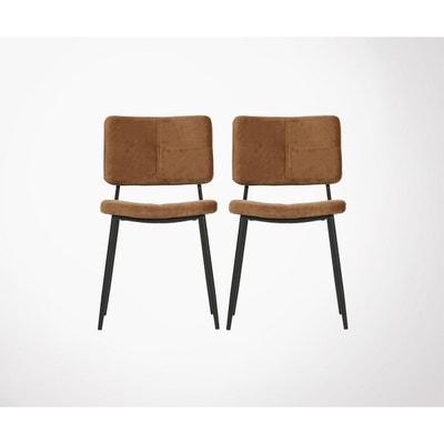 36b1a2665953e Lot 2 chaises design velours KAAT Lot 2 chaises design velours KAAT WOOOD