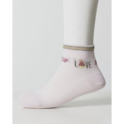 265985dd7bf Mi-Chaussettes Love femme   ROSE CLAIR Mi-Chaussettes Love femme   ROSE  CLAIR