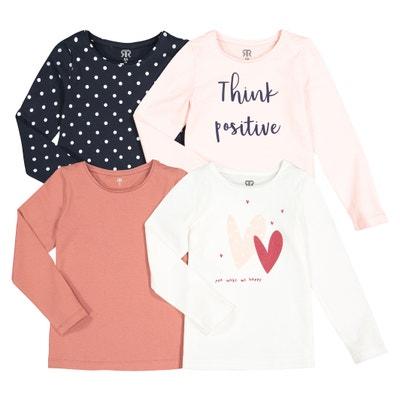 Set van 4 T-shirts met lange mouwen 3-12 jaar Set van 4 T-shirts met lange mouwen 3-12 jaar LA REDOUTE COLLECTIONS