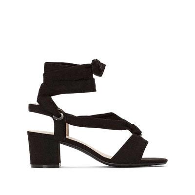 bcf55b0738a Wide Fit High Heel Tie Strap Sandals CASTALUNA PLUS SIZE