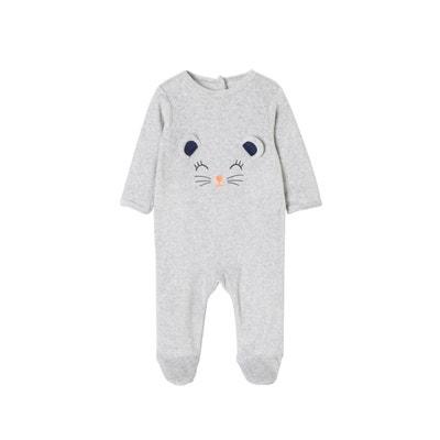 78e75fd1360ea Pyjama bébé velours pressionné dos VERTBAUDET