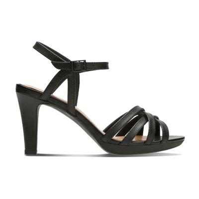 f577a505aca Adriel Wavy High Heeled Leather Sandals CLARKS