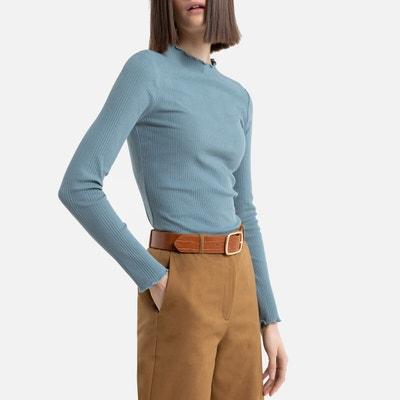T-shirt met opstaande kraag en lange mouwen T-shirt met opstaande kraag en lange mouwen LA REDOUTE COLLECTIONS