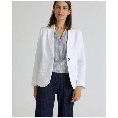 e09609eb84 Blazer 100% lin avec deux poches WOMAN EL CORTE INGLES