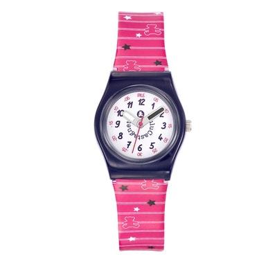a71e2d9d997a3 Montre analogique cadran pédagogique bracelet plastique étoiles POP KID  Montre analogique cadran pédagogique bracelet plastique étoiles