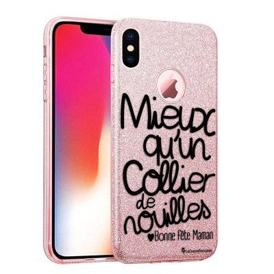 coque iphone xr transparente rose gold