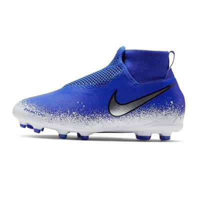 pretty nice 01cee 85ba8 Chaussures football Nike Phantom Vision Academy DF MG Bleu Blanc Junior Chaussures  football Nike Phantom