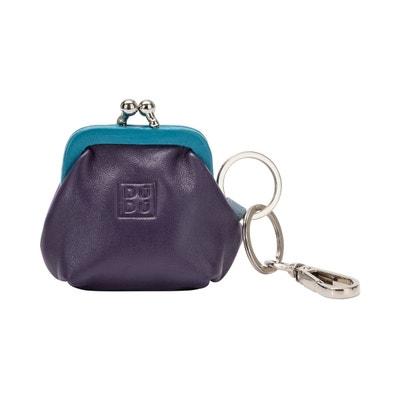 4c044365d2 Porte-monnaie et Porte-clés coloré en Cuir Véritable avec fermeture Clic  Clac et. DUDU