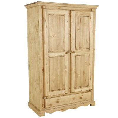 Armoire chambre bois massif | La Redoute