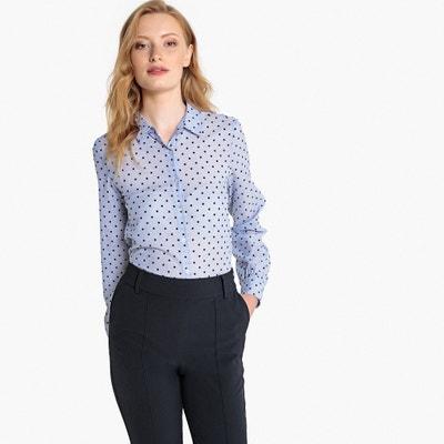 7e081d35e55259 Textured Polka Dot Long-Sleeved Shirt LA REDOUTE COLLECTIONS