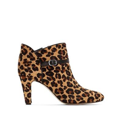 c7754d9cf586 Boots léopard cuir zippée Premium Boots léopard cuir zippée Premium LA  REDOUTE COLLECTIONS