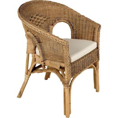 coussin pour fauteuil en osier la redoute. Black Bedroom Furniture Sets. Home Design Ideas