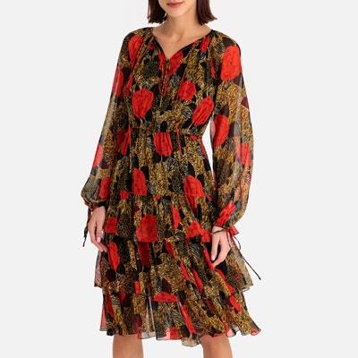 921bd8b090f Платье с воланами из вуали и длинными рукавами THE KOOPLES
