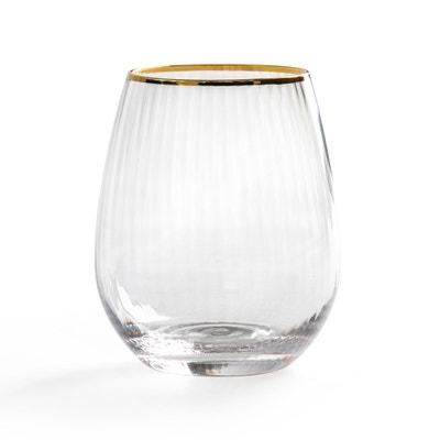 Set van 4 gestreepte glazen, Lurik Set van 4 gestreepte glazen, Lurik LA REDOUTE INTERIEURS