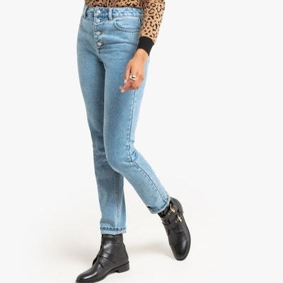 8fd76078c1 Jean mom slim taille haute, braguette boutonnée LA REDOUTE COLLECTIONS