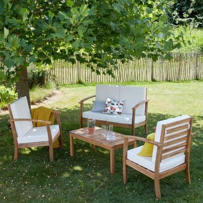 Salon de jardin aluminium et bois composite | La Redoute