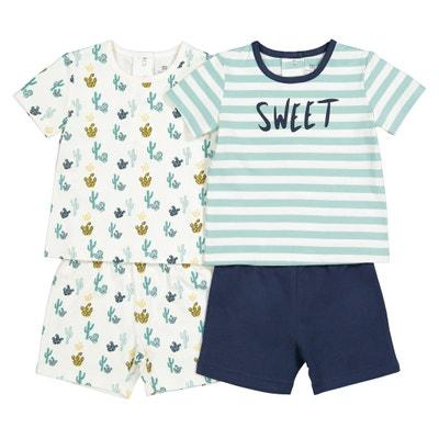 Confezione da 2 pigiama corti puro cotone 0c59a6d8214