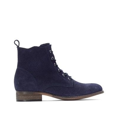 1d3039b0fcd Boots cuir à lacets effet perforé Boots cuir à lacets effet perforé LA  REDOUTE COLLECTIONS. «