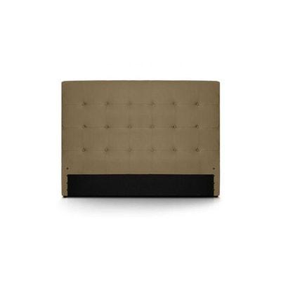 t te de lit taupe en solde la redoute. Black Bedroom Furniture Sets. Home Design Ideas