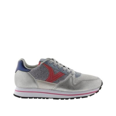 HSNA Baskets Mode Fille L/ég/ères Chaussures Scratch Sneakers Paillettes pour Fille