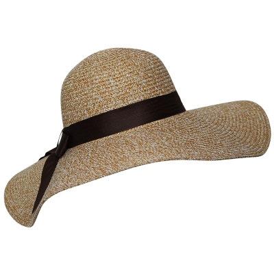 f9951ef216e78 Chapeau capeline beige chinée Chapeau capeline beige chinée CHAPEAU-TENDANCE