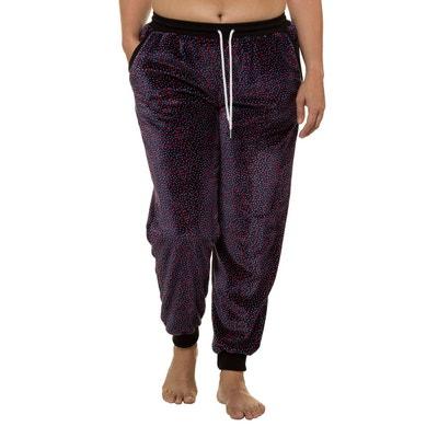 Pantalon de pyjama polaire imprimé graphique ULLA POPKEN 01e53b8ef91
