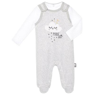 78a39e5bb5739 Salopette velours + T-shirt coton bébé mixte With Love Salopette velours +  T-