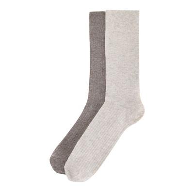 e4569682b8d Lot de 2 paires de chaussettes côtelées Lot de 2 paires de chaussettes  côtelées LA REDOUTE