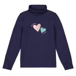 Camiseta de cuello alto con lentejuelas mágicas, algodón orgánico 3-12 años