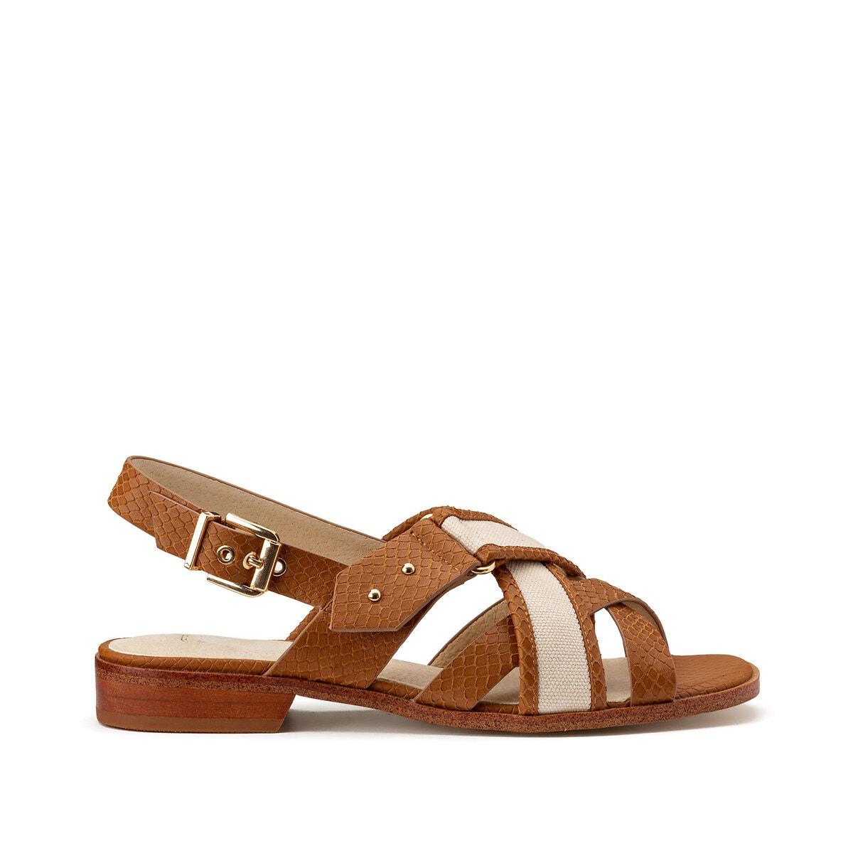 Womens Sandals WedgesLeather Heeled FlatsLa Redoute