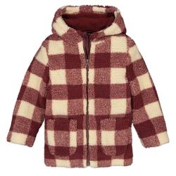 Abrigo con capucha de cuadros para entretiempo 3-12 años