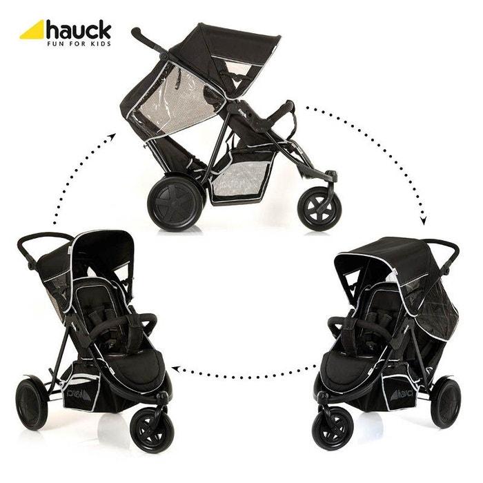 poussette double freerider 3 roues noir hauck couleur. Black Bedroom Furniture Sets. Home Design Ideas