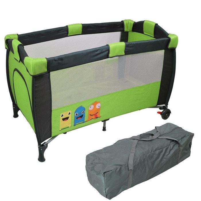 lit parapluie b b 60 cm x 120 cm matelas vert vert monsieur bebe la redoute. Black Bedroom Furniture Sets. Home Design Ideas