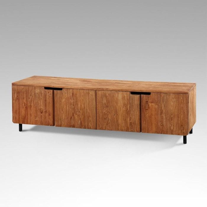 meuble tv vintage en teck massif merapi couleur unique kha home design la redoute. Black Bedroom Furniture Sets. Home Design Ideas
