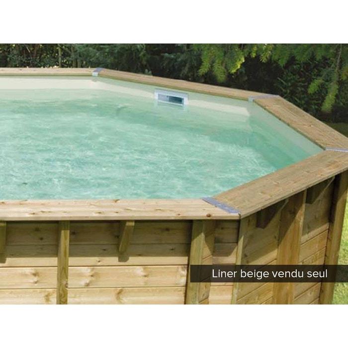 Liner seul pour piscine bois lin a 3 00 x 3 00 x 1 26 m beige couleur unique ubbink la redoute for Piscine la redoute