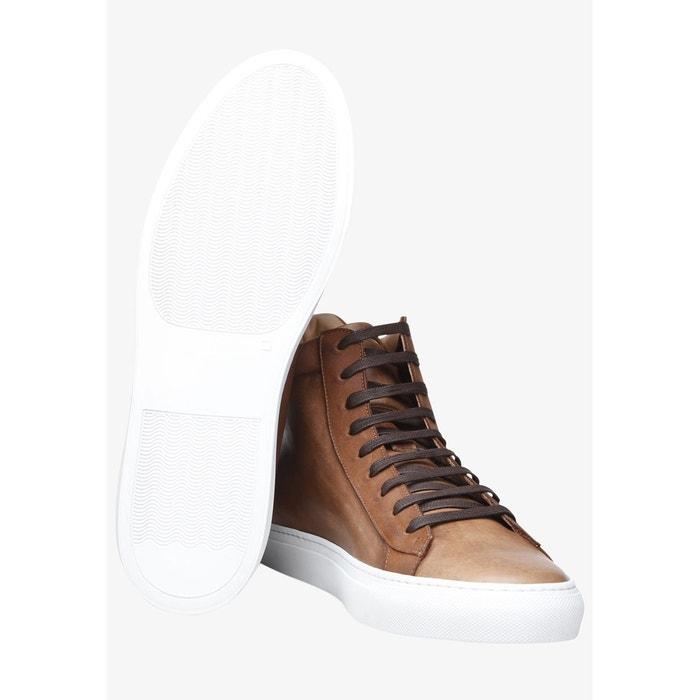 Sneaker italian calf en marron marron Shoepassion