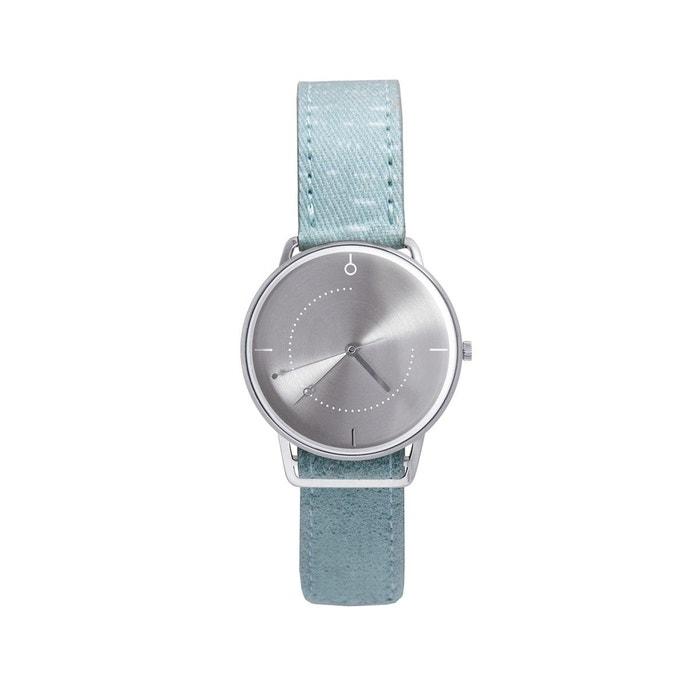 Montre acier et cuir twinwatch Shammane | La Redoute 100% Original Vraiment Pas Cher 100% Garanti En Ligne 0Flza4OY